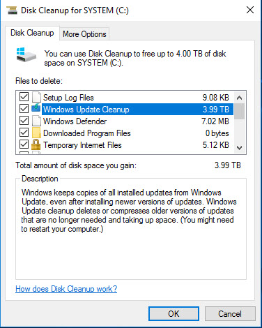 Return of the bogus 3 99 TB Windows Update Cleanup files @ AskWoody