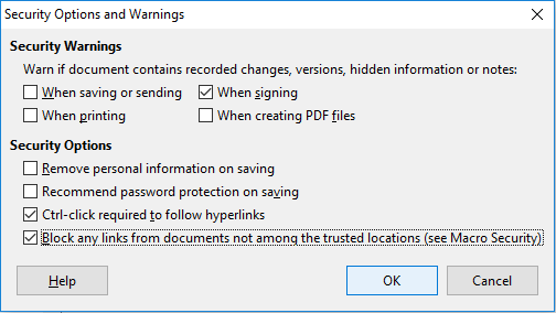 LibreOffice-Security-Options
