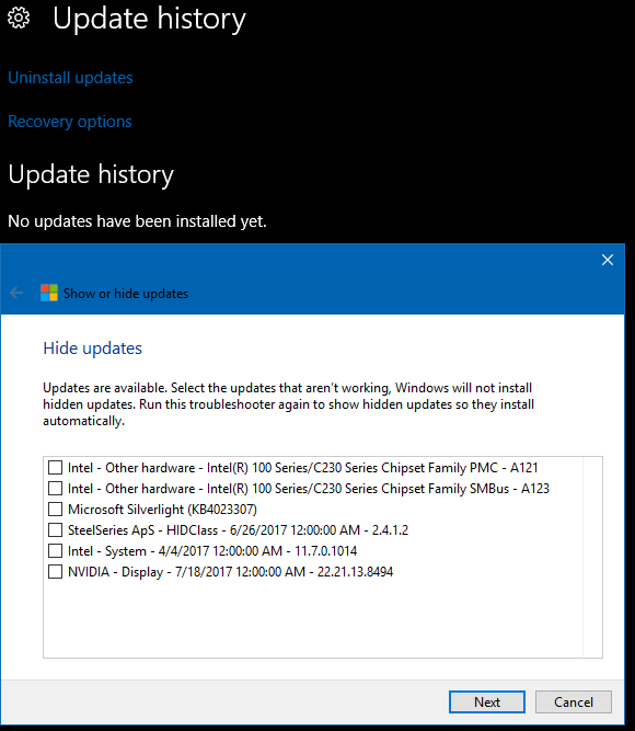 Topic: Windows 10 1607 cumulative update KB 4034658 wipes