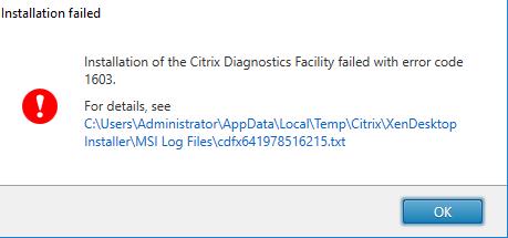 CitrixVDAFailing1709