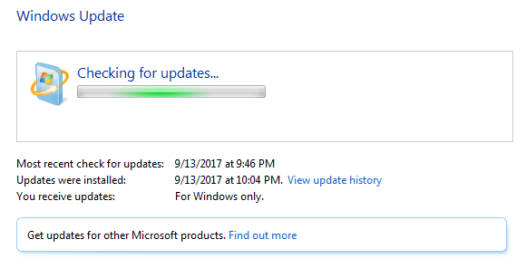 Win7CheckingForUpdates