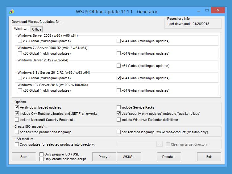 WSUS-Offline-Generator-download-settings