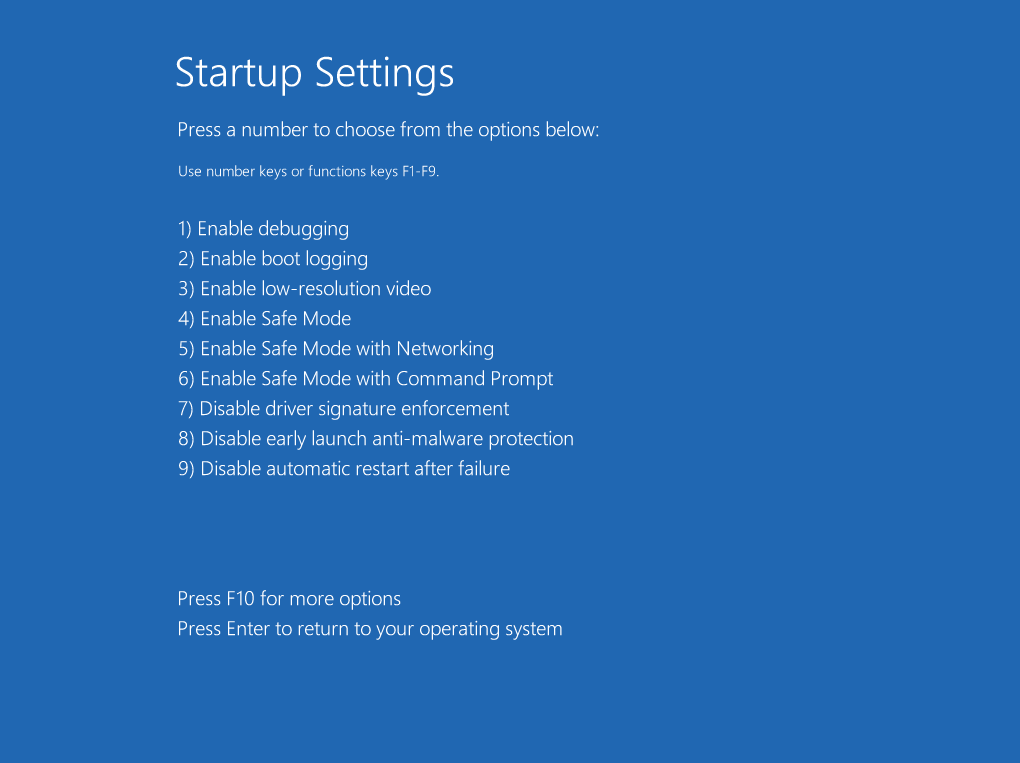 StartupSettings