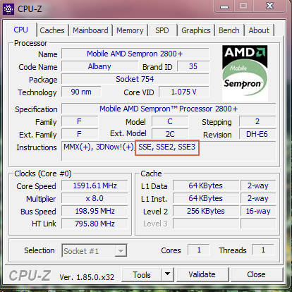 CPU-Z-util-Win7-x86-SSE2-check