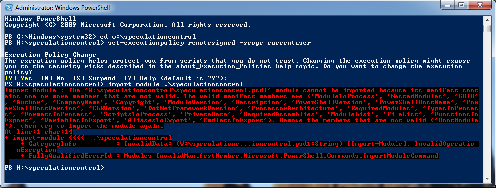 PowerShell Script Failure Indications