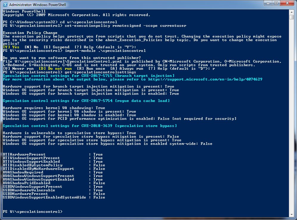 PowerShell Script 1.0.8 Results