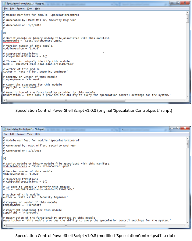 PowerShell Script Edit Modification