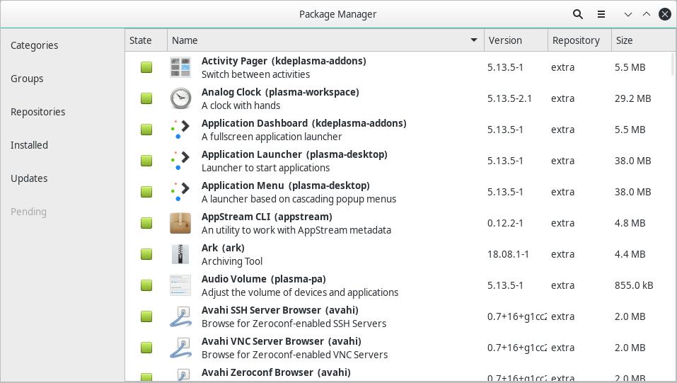 KDE-Pamac