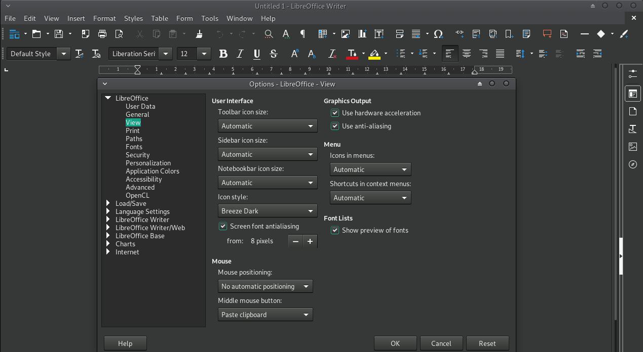 XFCE-Dark-LibreOffice
