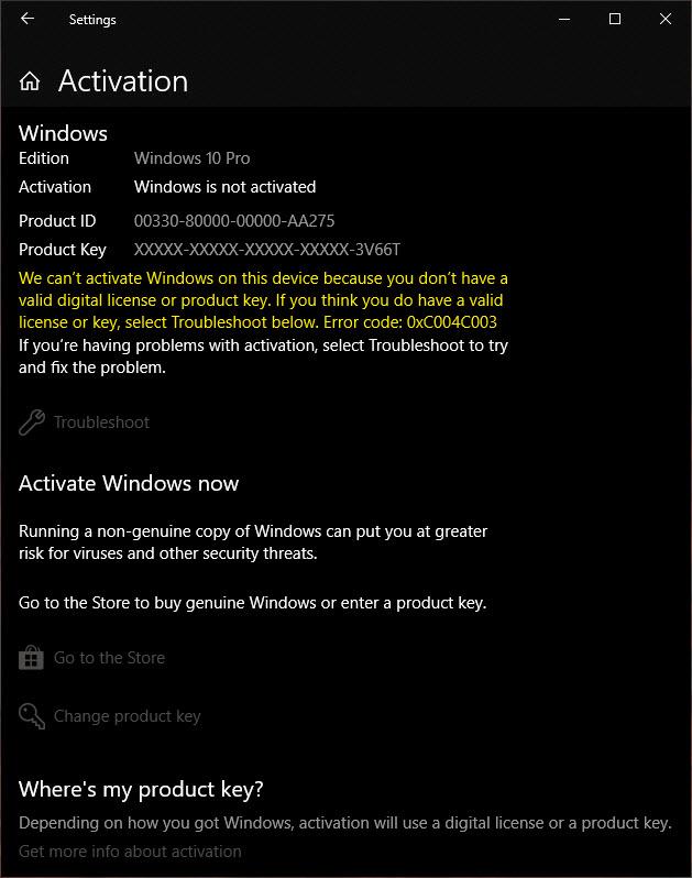 windows 10 home product keys 2018