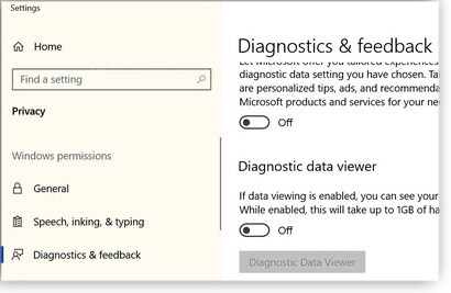 Windows 10 diagnostic data viewer