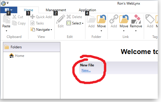 Create new file