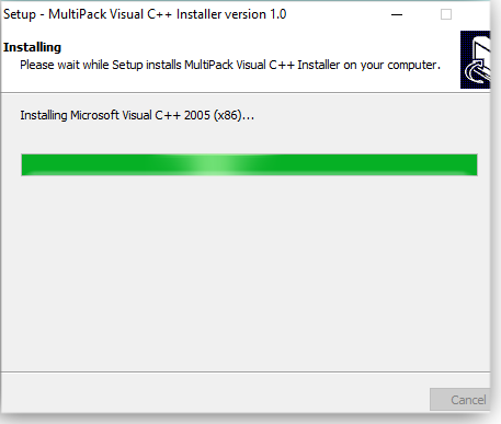 Installing Visual C++ runtime