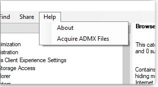 Get ADMX files
