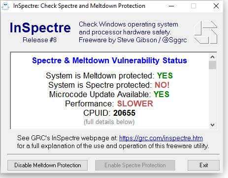 InSpectre tool