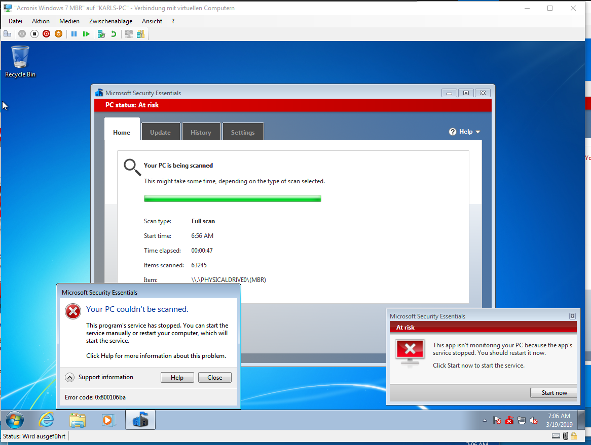Topic: Windows Defender Security definition problems @ AskWoody
