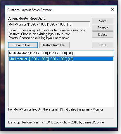 Custom Save/Restore