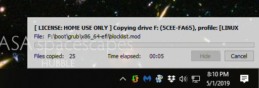 USBFlashCopy in progress