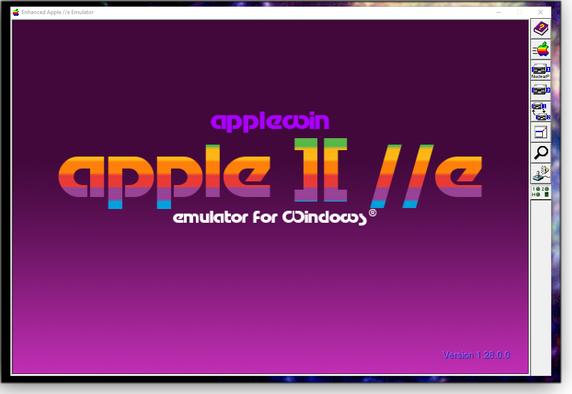 Opening AppleWin screen