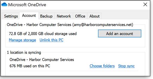 Choose folders link