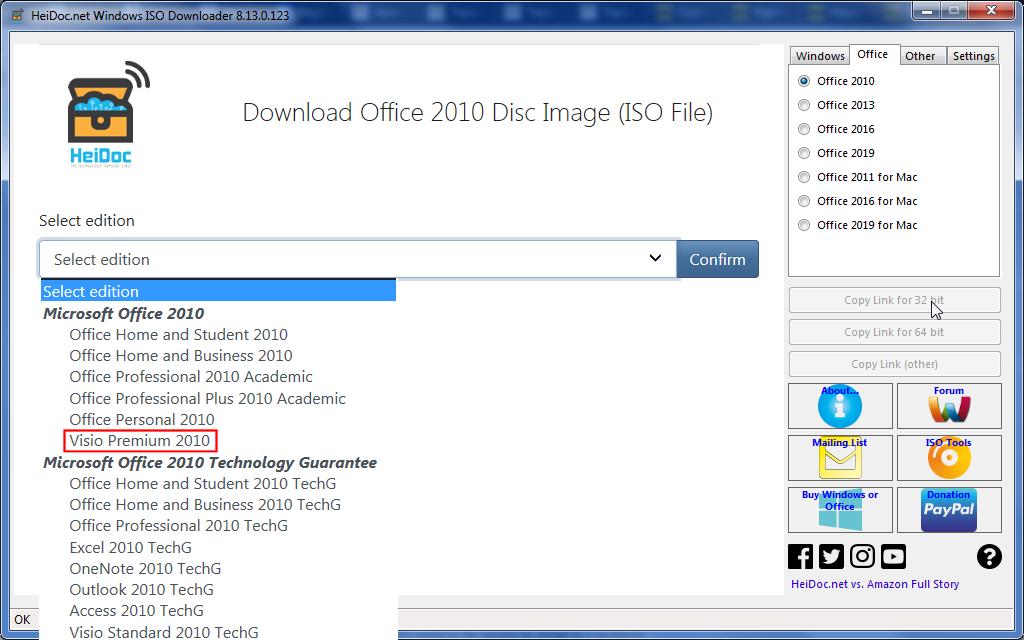 Ms Office Visio Premium 2010 64-Bit