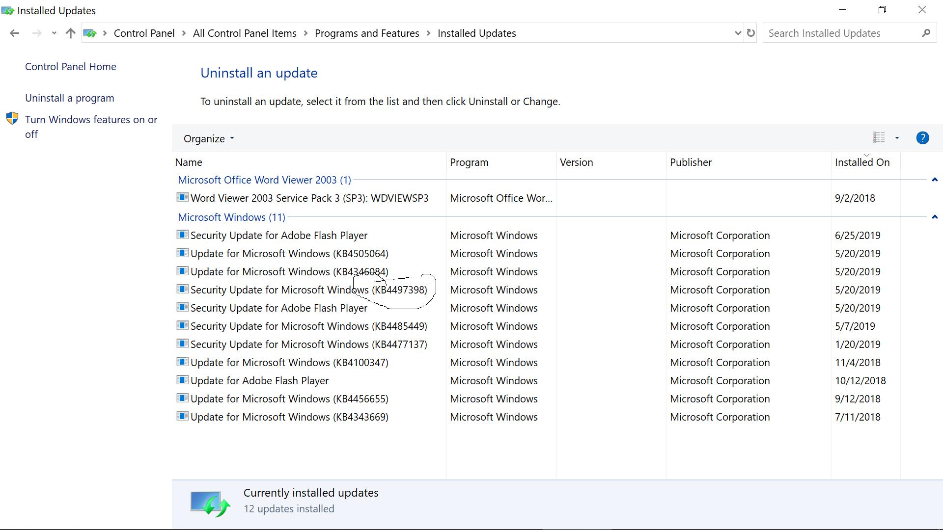 Windows-10-View-Installed-Updates