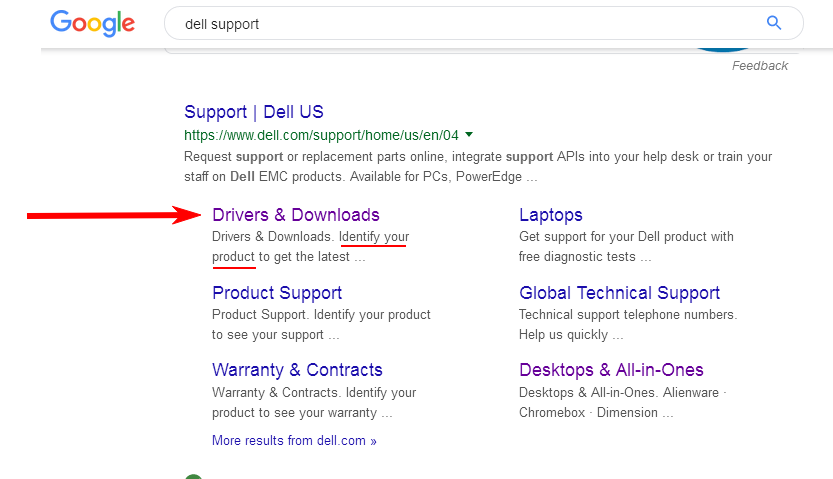 Google-Search-Dell-Support