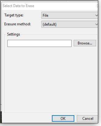 Select Data to Erase