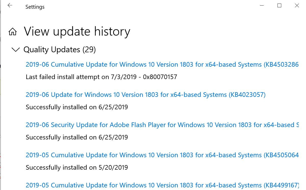 Windows-10-Update-failed-on-7-3-2019
