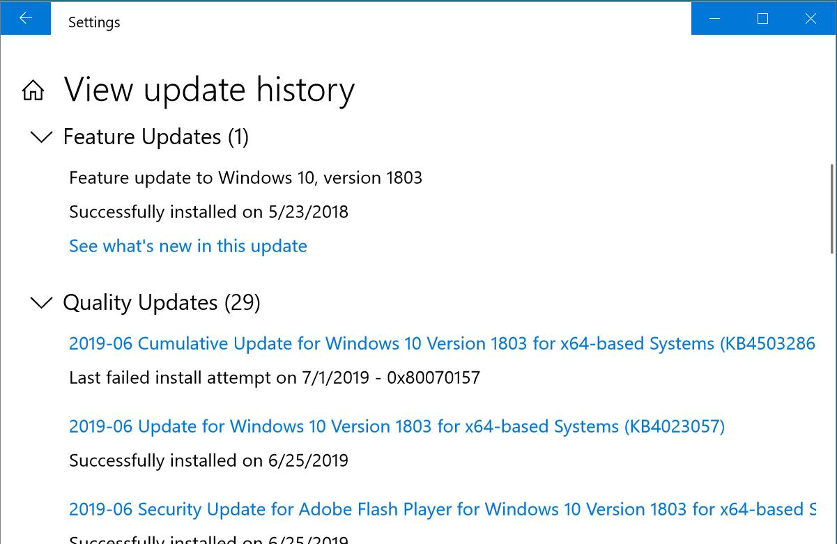 Windows-10-update-failed-on-7-1-2019