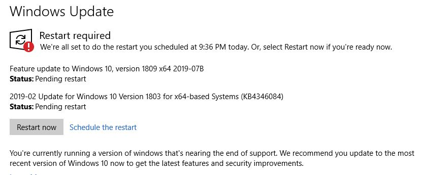 Topic: Are you being pushed from Win10 1803 to 1903? Tell me about