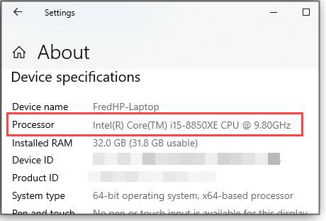 Bogus processor information