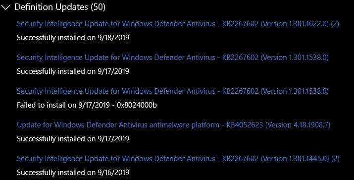 Defender-Updates