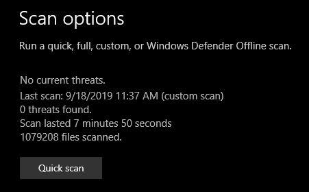 Defender-custom-scan