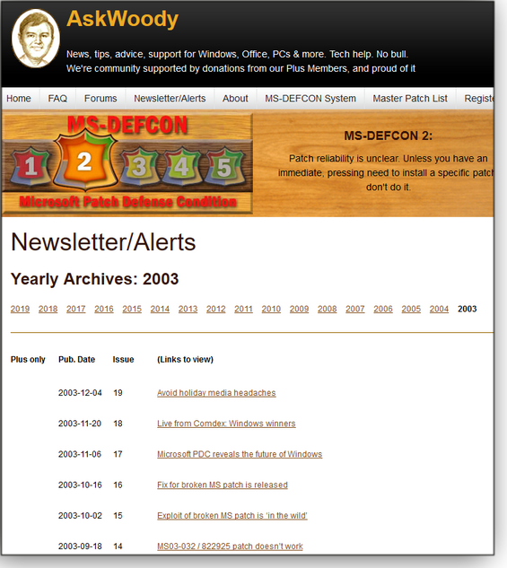 Newsletter/Alerts section