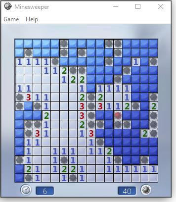 Minesweeper screen