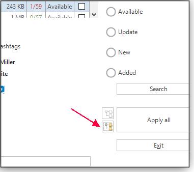 Select folder structure