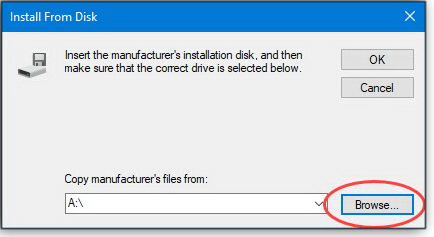 Install from Disk