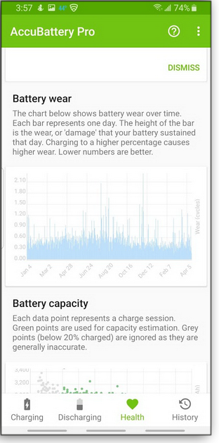 track battery usage and wear