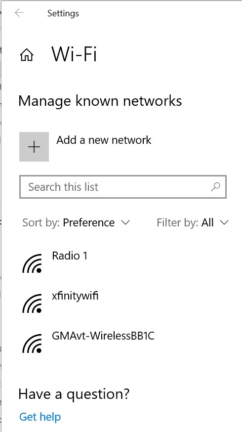 ManageKnownNetworks