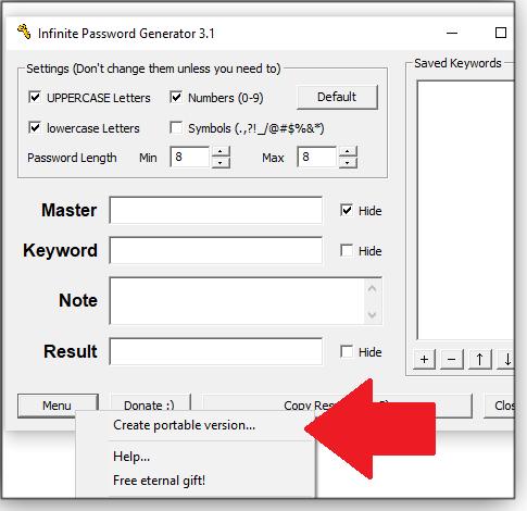 Create portable version option