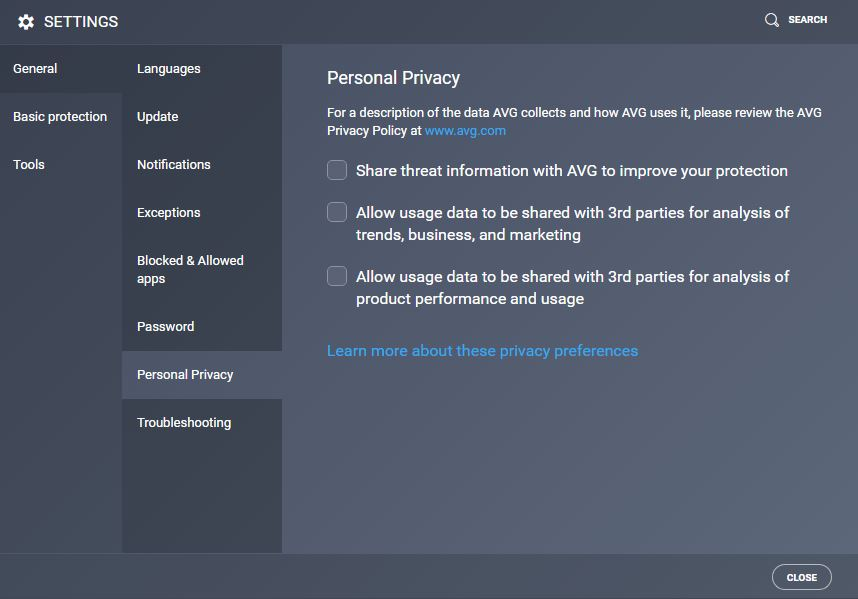 AVG-Privacy