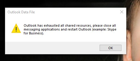 Outlook-Error-exhausted-all-shared-resources.