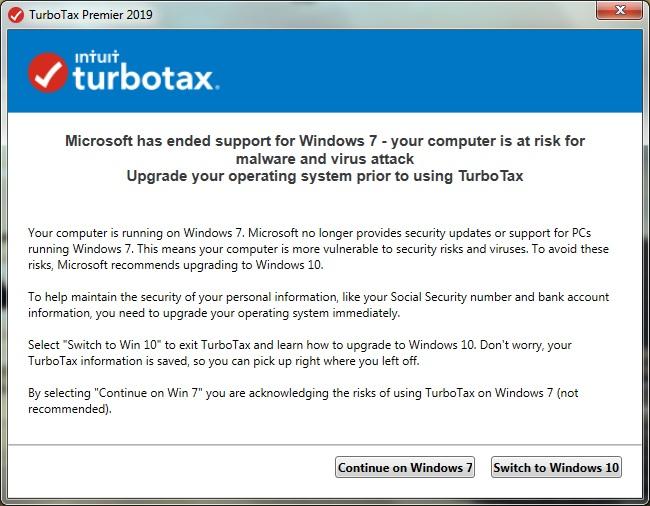 TurboTax Win7 NAG