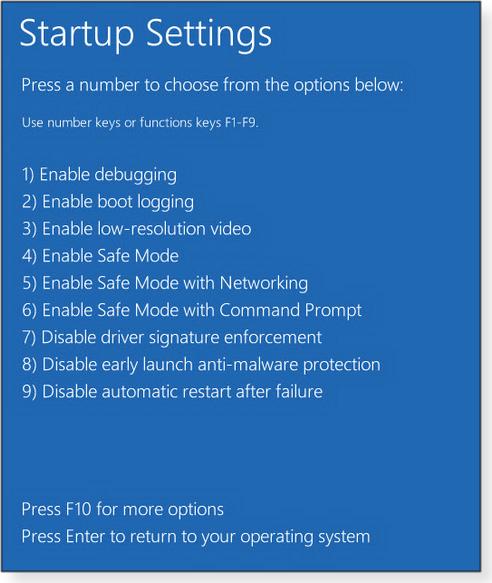 Select Safe Mode