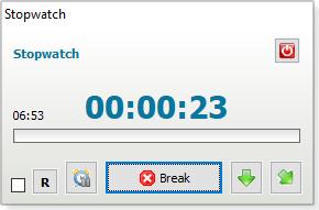 Stopwatch on desktop