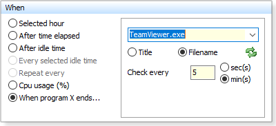 When program x ends
