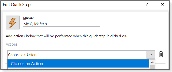 Edit Quick Step window
