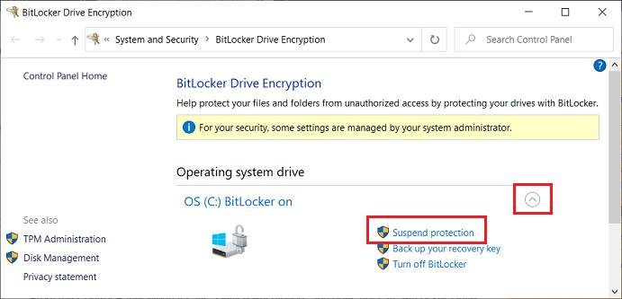 Win-10-v1909-Suspend-Bitlocker-Control-Panel-06-Jun-2020