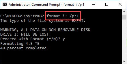Window's format command